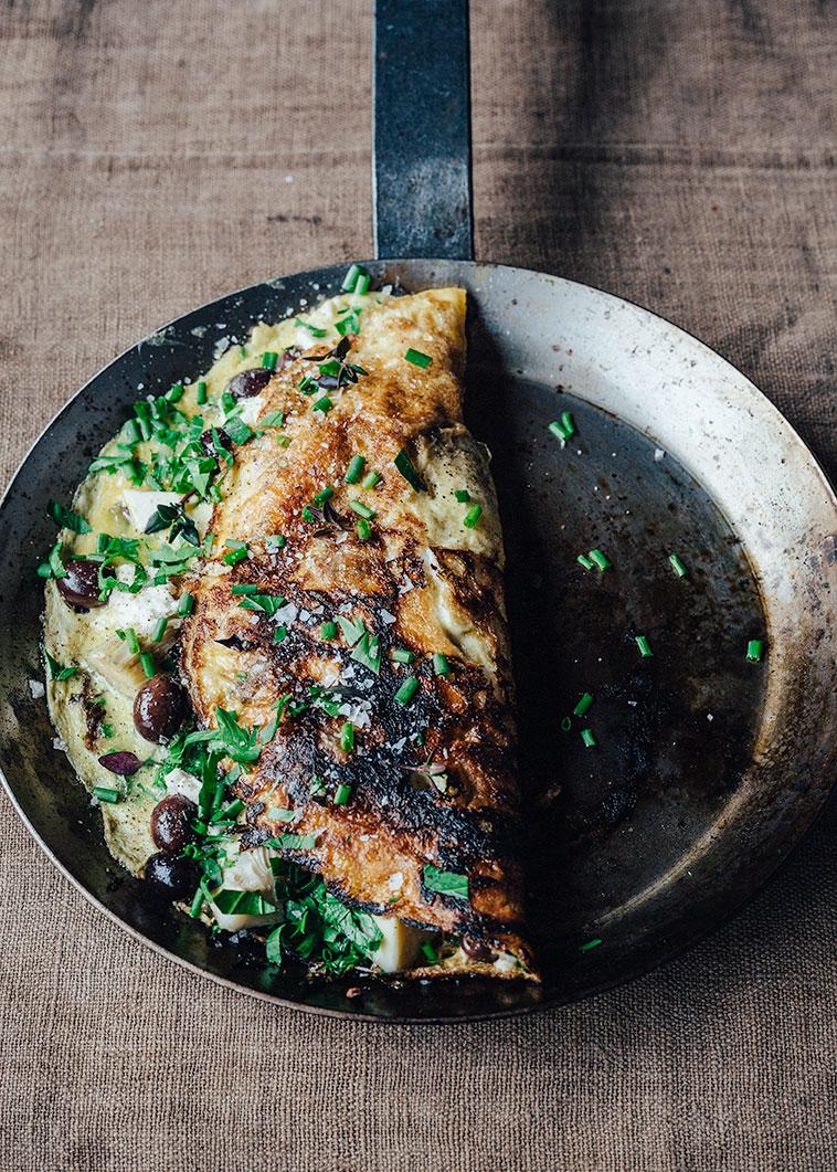 Omelet over bål